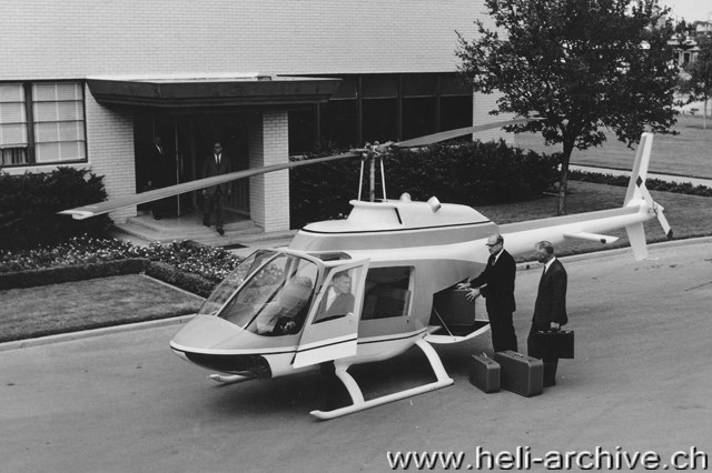 the mock-up of the jet ranger in a picture taken in october 1965