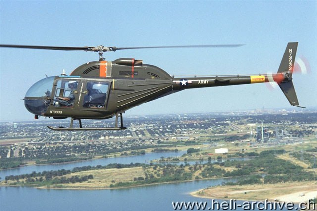 the bell 206 jet ranger is an evolution of the bell oh-4a, one