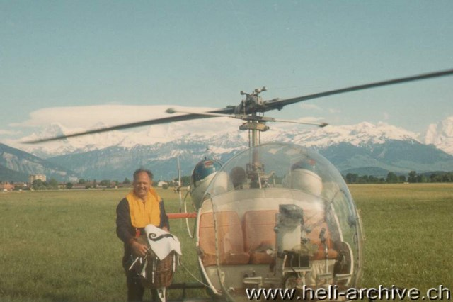 With the helicopters of the Bell 47 series Jean Seydoux logged thousands of flying hours (HAB)