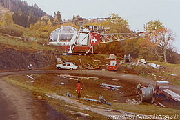Glarus Alps/GL, 1970s - The SA 315B Lama HB-XFX in service with Air Grischa (family Kolesnik)