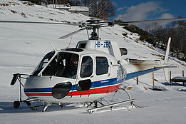 Mounts of Comino/TI, December 2005 - The AS 350B3 Ecureuil HB-ZEC in service with Eliticino (M. Bazzani)