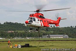 Belp/BE, June 2013 - The AS 332C1 Super Puma HB-XVY in service with Heliswiss International (O. Colombi)