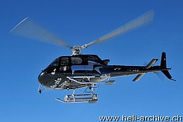Testa Grigia/VS, February 2013 - The AS 350B3 Ecureuil HB-ZES in service with Eagle Helicopter (H. Zurniwen)