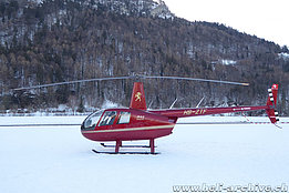 Bad Ragaz/GR, January 2019 - The Robinson R-44 Raven II HB-ZTF of Montalin Heli AG (M. Bazzani)
