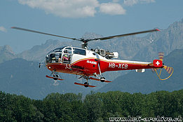 Collombey/VS, July 2006 - The SE 3160 Alouette III HB-XCB in service with Air Glaciers (K. Albisser)