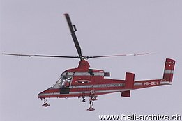 Airolo/TI, April 2005 - The Kaman K-1200 K-Max HB-ZEH in service with Eagle Helicopter (M. Ceresa)