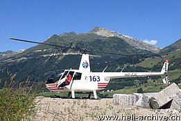 Airolo/TI, August 2013 - The Robinson R-44 Raven II HB-ZJL in service with Valair AG (M. Ceresa)