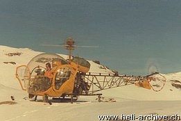 1976 - The Westland/Agusta-Bell 47G-3B-1 HB-XFA in service with Eliticino (HAB)