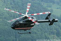 Buochs/NW, June 2005 - The Mc Donnell 900 Explorer HB-ZCW in service with Breitling SA (K. Albisser)