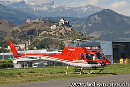 Sion/VS, June 2008 - The AS 350B3 Ecureuil HB-ZEI in service with Heliswiss (N. Däpp)