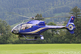 Mollis/GL, August 2016 - The EC 120B Colibri HB-ZJB in service with Linth Air Service AG (M. Ceresa)