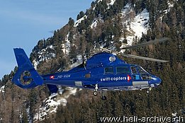 WEF Davos/GR, January 2011 - The SA 365N Dauphin 2 HB-XQW in service with Swift Copters SA (B. Siegfried)