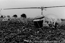 Germania, estate 1958 - Il Bell 47G2 HB-XAT in servizio con la Heliswiss con il kit spray (M. Kramer)