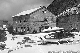 Swiss Alps 1968 - The Agusta-Bell 206A Jet Ranger HB-XCL in service with Air Zermatt (archive G. Amann)