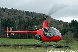 Baar/ZG, March 2007 - The Robinson R-22 Beta HB-XZV in service with Flying Camera (K. Albisser)