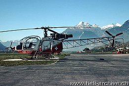 Sion/VS, October 1975 - The HB-XDG s/n 2221 in service with Air Glaciers (T. Heumann)