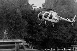 Valle Maggia/TI, Spring 1972 - The Hughes 500HS HB-XDM in service with Eliticino (photo HAB)