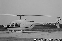 The Agusta-Bell 206A Jet Ranger HB-XCF photographed in Cascina Costa in June 1967 ready to be delivered (HAB)