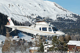 Davos/GR, January 2008 - The Agusta A109E Power Elite HB-ZIM in service with Skymedia AG (K. Albisser)
