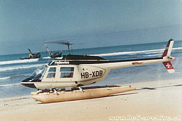 Suriname, early 1970s - The Bell 206A Jet Ranger HB-XDB in service with Heliswiss (HAB)