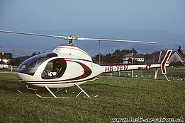Ecuvillens/FR, August 1991 - The Rotorway Exec 90 HB-YEN of Amiet Raymond (archive P. Wernli)