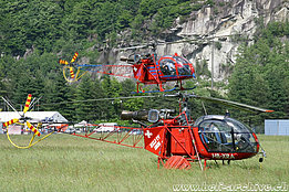 Lodrino/TI, May 2003 - The SA 315B Lama HB-XRA in service with Heli-TV (M. Ceresa)