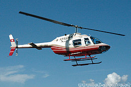 Morschach/SZ, settembre 2006 - Il Bell 206B Jet Ranger HB-XMJ in servizio con la Heli-Link Helikopter AG (K. Albisser)