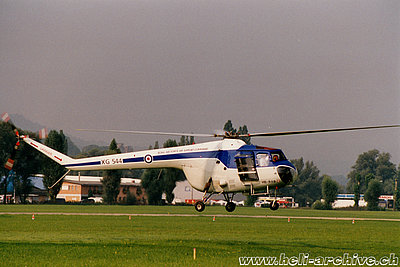1990s - The Bristol 171 Mk. 52 Sycamore HB-RXB belonging to Peter Schmid (HAB)