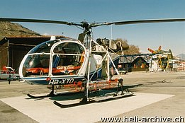 Sion/VS, March 1989 - The SA 315B Lama HB-XTO in service with Air Glaciers (B. Pollinger)