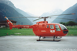 Erstfeld/UR, July 1992 - The MBB BO-105CBS-4 HB-XXK in service with REGA (K. Albisser)