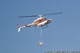 1970s - The Bell 206A/B Jet Ranger II HB-XCT in service with Heliswiss (E. Devaud)