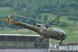 Alpnach/OW, May 2013 - The SE 3160 Alouette III HB-XXM in service with Alouette Swiss AG (T. Schmid)