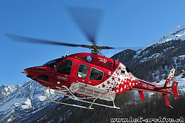 Zermatt/VS, March 2013 - The Bell 429 HB-ZSU in service with Air Zermatt (H. Zurniwen)