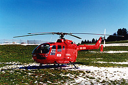 Eigenthal, March 1995 - The MBB BO-105CBS-4 HB-XGM in service with Rega (K. Albisser)