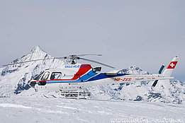 Rothhorn/VS, March 2007 - The AS 350B3 Ecureuil HB-ZES in service with Eagle Helicopter (P. Zurniwen)