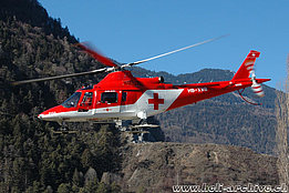Untervaz/GR, February 2007 - The Agusta A109K2 HB-XWB in service with Rega (K. Albisser)