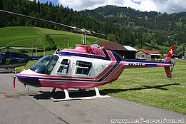 Gstaad/BE, June 5, 2010 - The Bell 206B Jet Ranger III in service with CHS Central Helicopter Services AG (archive R. Zurcher)