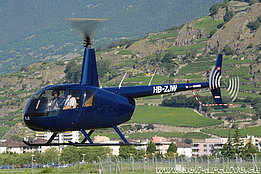 Sion/VS, July 2008 - The Robinson R-44 Raven II in service with Héli-Alpes SA (N. Däpp)