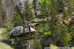 Lauterbrunnen/BE, May 2015 - The SE 3130 Alouette 2 HB-XYB in service with Alouette Swiss AG (M. Bazzani)