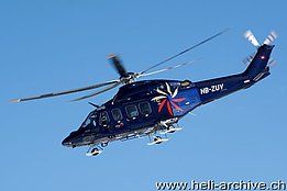 WEF Davos/GR, January 2011 - The Agusta-Westland 139 HB-ZUV in service with Swiss Jet (B. Siegfried)