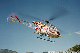 June 1990 - The SA 315B Lama HB-XFE in service with Air Grischa (HAB)