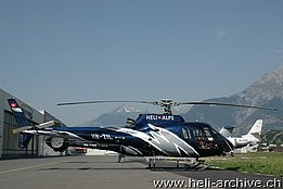 Sion/VS, July 2010 - The AS 350B2 Ecureuil HB-ZIL in service with Héli Alps (M. Bazzani)