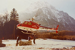 Glarus alps, February 1980 - The AS 350B Ecureuil HB-XGW in service with Linth Helikopter (family Kolesnik)