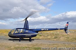 Iceland, August 2014 - The Robinson R-44 Raven I HB-ZJA in service with Volcano Heli-Tours (T. Schmid)