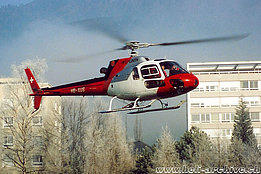 Altdorf/UR, January 1992 - The AS 350B2 Ecureuil HB-XUS in service with Heli-Linth AG (K. Albisser)