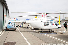 Grenchen/SO, May 2015 - The Bell 206B Jet Ranger II HB-XDH in service with Firma Rotorair (O. Colombi)