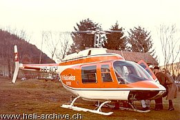 Passenger flights in the '70s with the Bell 206A/B Jet Ranger II HB-XCP in service with Heliswiss (archive E. Devaud)
