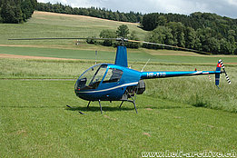 Beromünster/LU, June 2007 - The Robinson R-22 Beta HB-XTQ in service with Airport Helicopter Basel (K. Albisser)