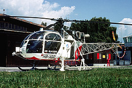 Belp/BE, August 1978 - The SA 315B Lama HB-XGP in service with Air Glaciers (photo P. Schüpbach / T. Heumann)