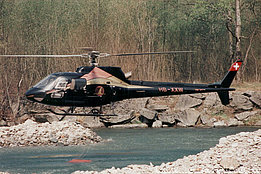 Grono/1997 - The AS 350B2 Ecureuil HB-XXW in service with Tarmac Aviation (M. Bazzani)